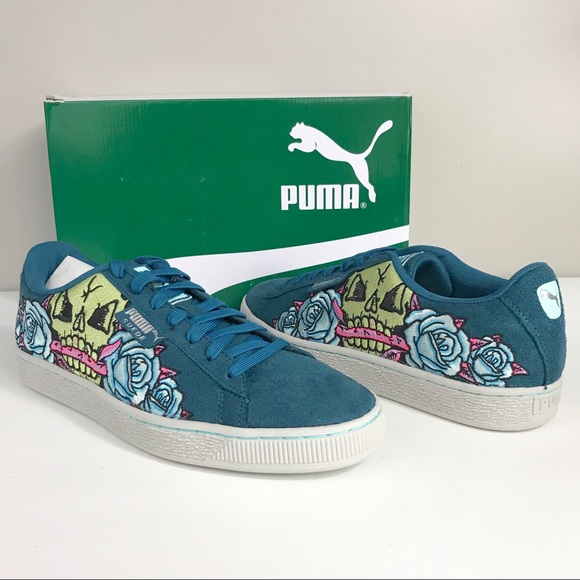 038d950633b Puma NEW suede court classic skull patch sneaker